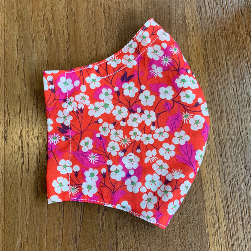 Handmade Reusable Face Mask (Liberty) - Mitsi Red