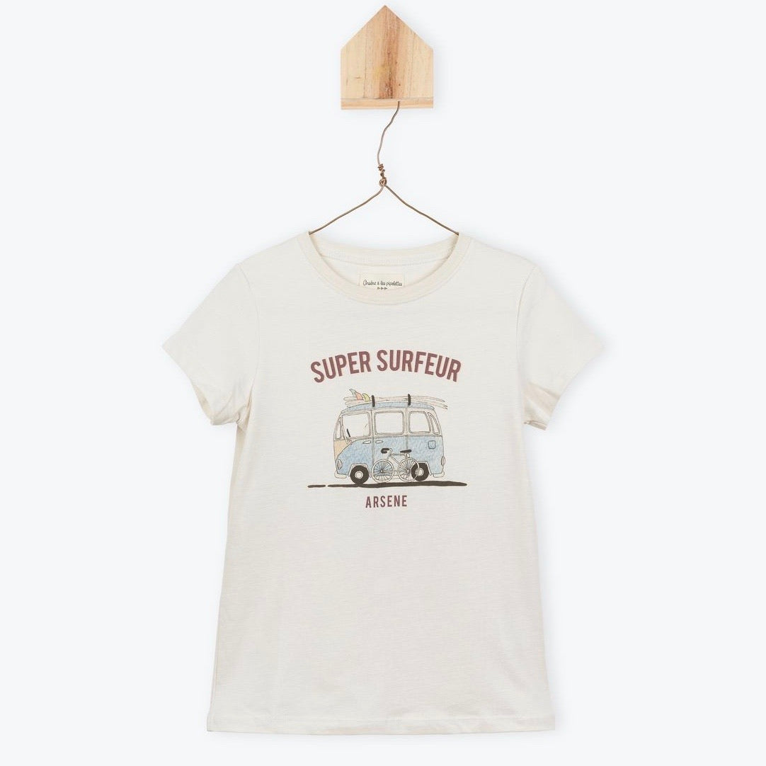 Super Surfer Tee Off White