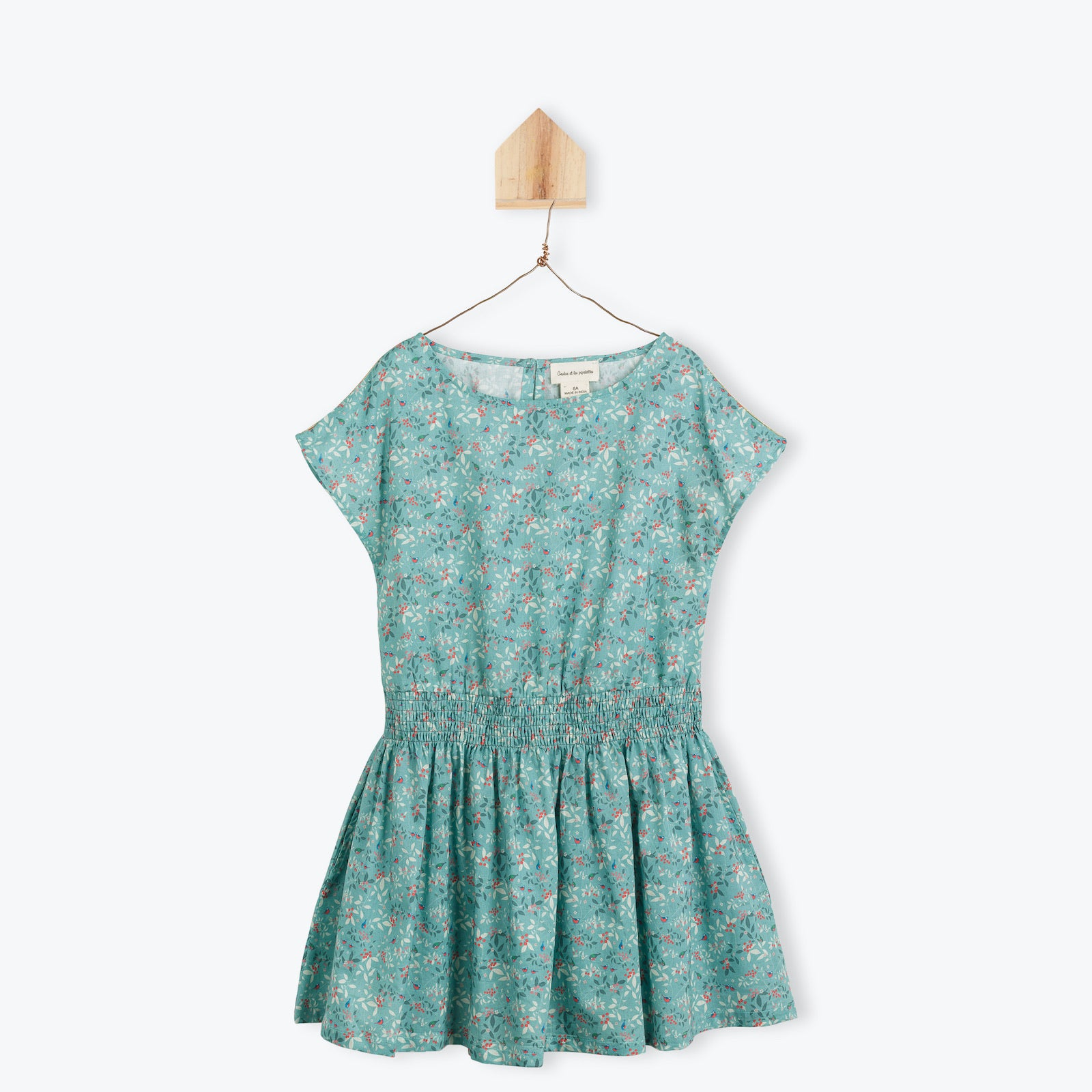 Bird and floral print 1pc dress