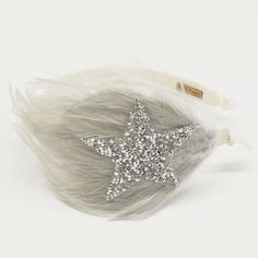 Glittered Star and Feather Headband