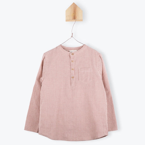 Brick Vichy Long Sleeves Shirt