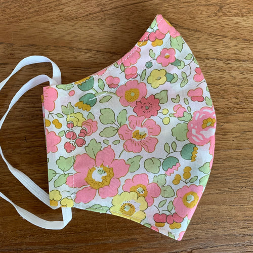 Handmade Reusable Face Mask (Liberty) - Betsy Pink