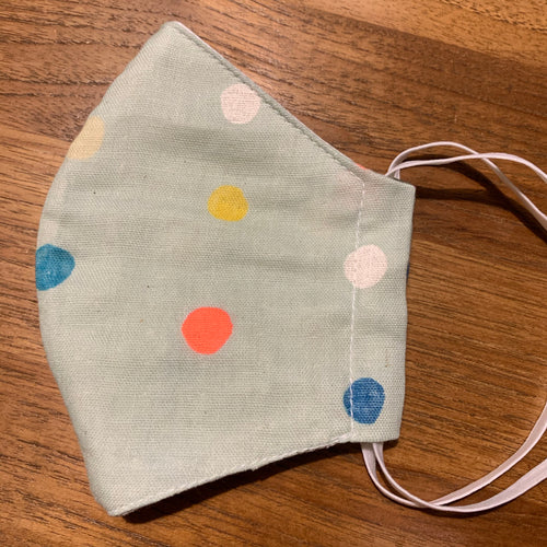 Handmade Reusable Face Mask - Dots Mint Green