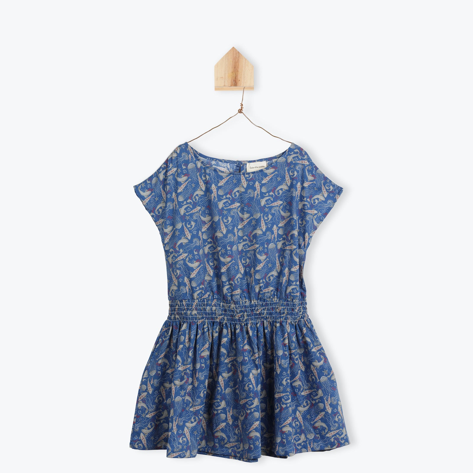 Fishes and Jellyfishes print 1pc dress