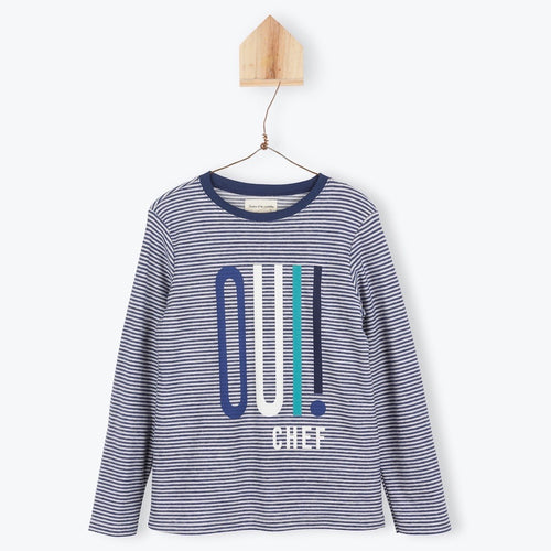 Tee Striped Oui! Marine