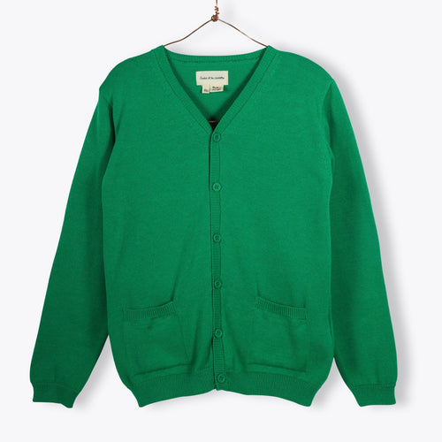 Vneck Cardigan - Green