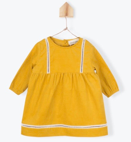 Dress Corduroy Ochre