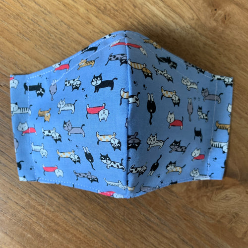 Handmade Reusable Face Mask - 🐈 Cats