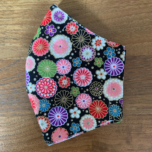 Handmade Cloth Mask - Japanese Flowers