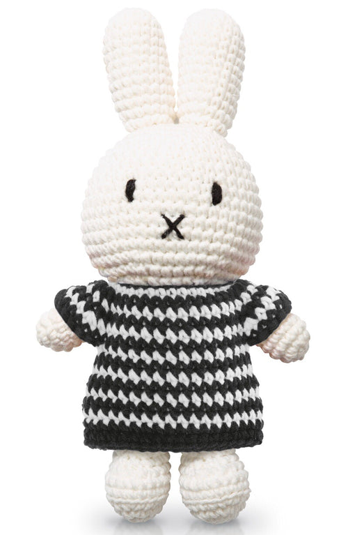 Miffy handmade and her black small striped dress