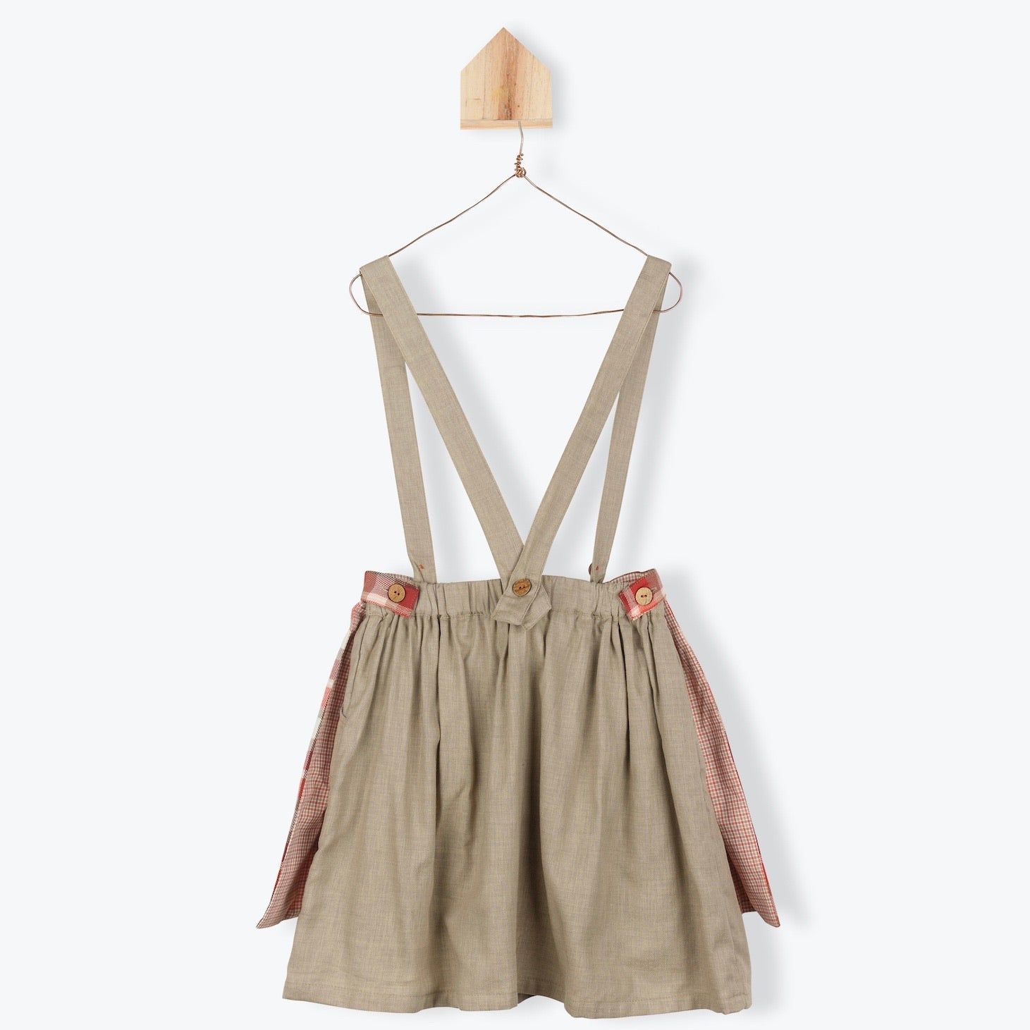 Apron Skirt with detachable straps