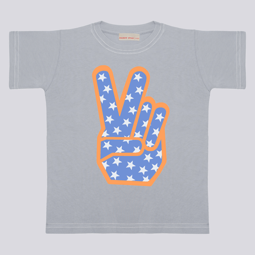 Peace Sign Light Grey Tee