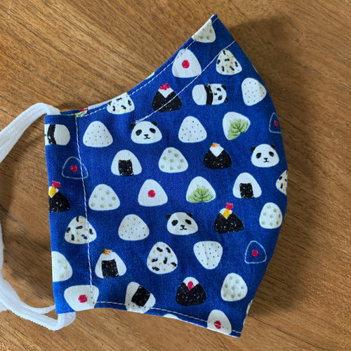 Handmade Reusable Face Mask - Pandas and Rice Balls