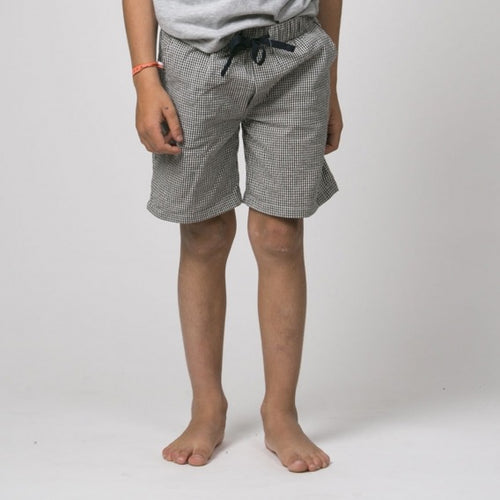 Black Vichy Bermuda Shorts