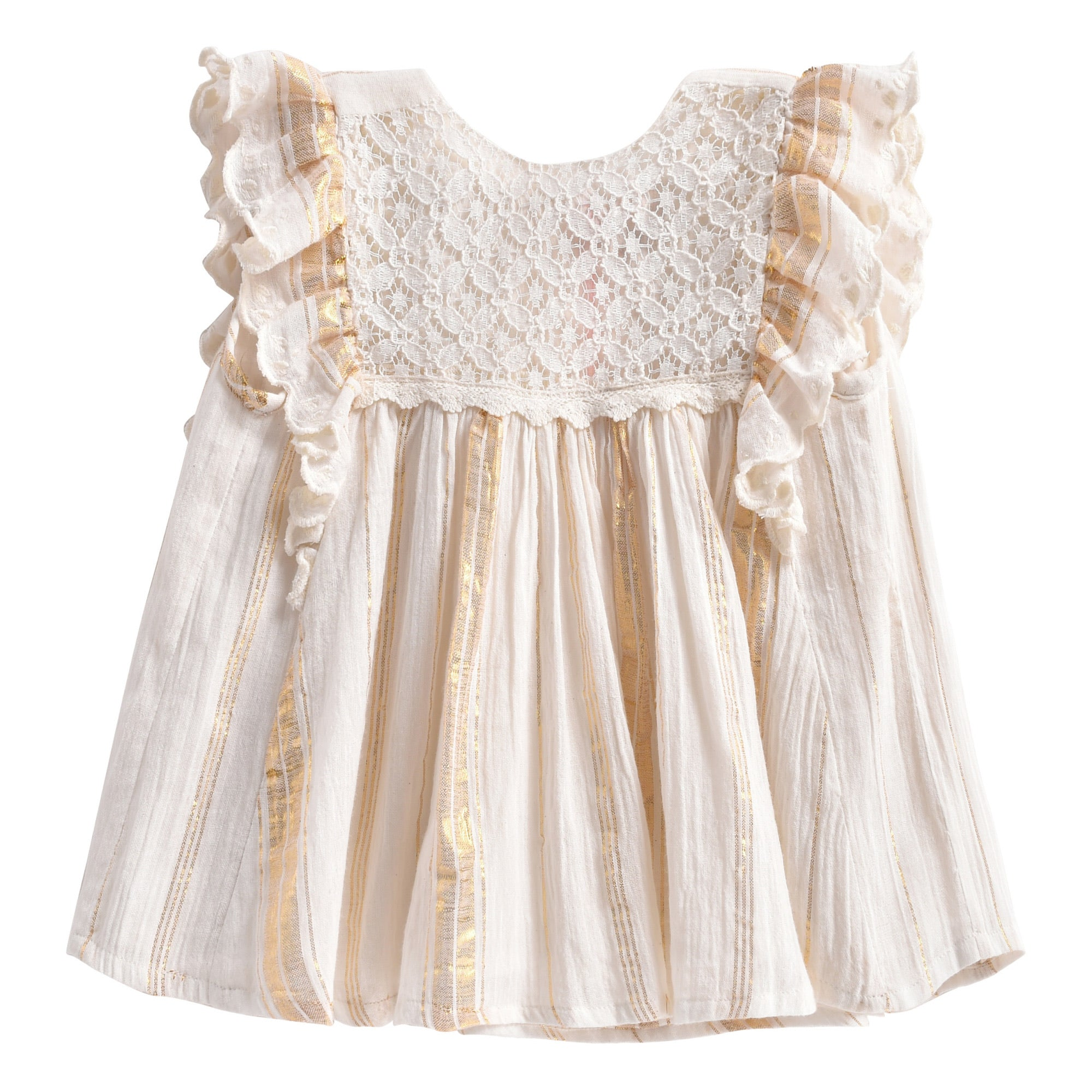 Dress Lyka White and Gold Stripes