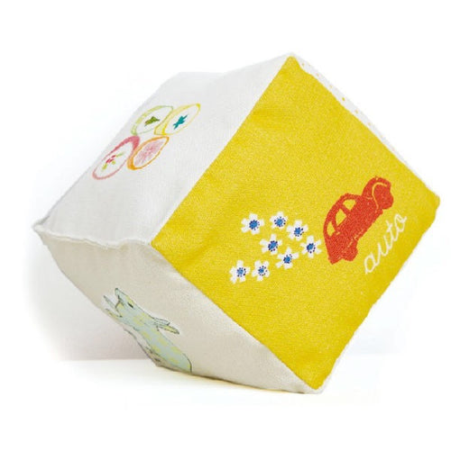 Cotton Cube with Bell - Baby Words