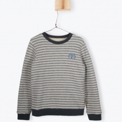 Striped Fleece Sweat