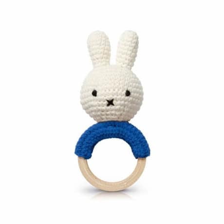 Miffy Handmade Teething Rattle - Blue