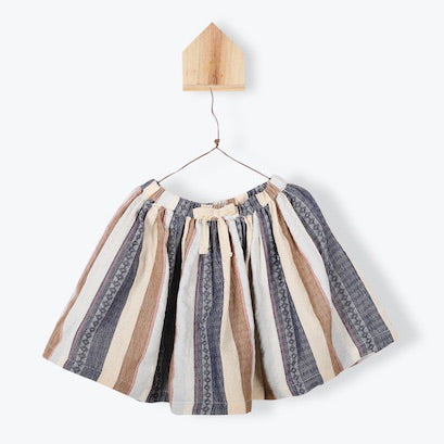 Striped Ethnic Drawstring Skirt