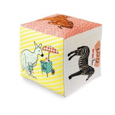 Cotton Cube with Bell - Zoo