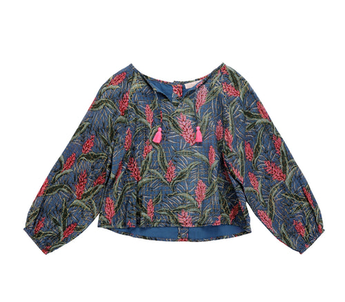 Blouse Caimite Lagoon Leaves