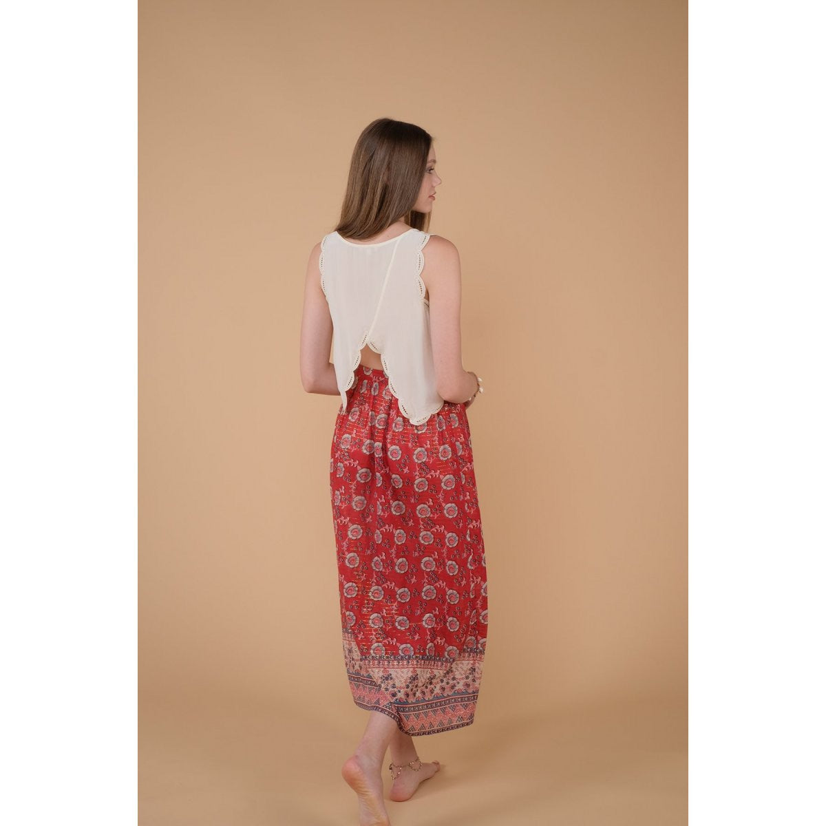 Skirt Mimila Red Flowers