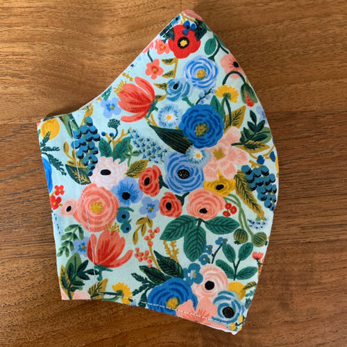 Handmade Reusable Face Mask - Garden Party