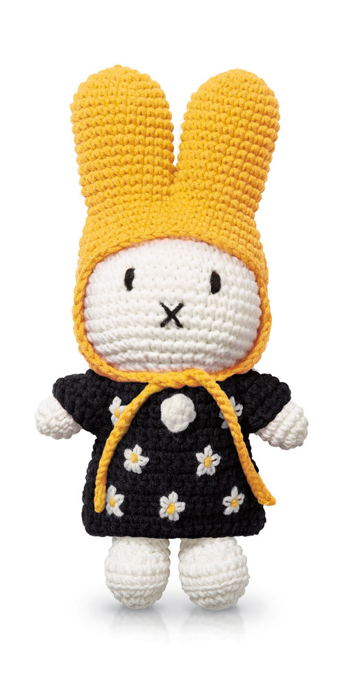 Miffy handmade and her black flower dress + yellow hat