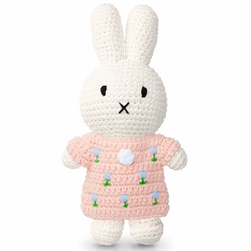 Miffy handmade and her pastel pink flower dress