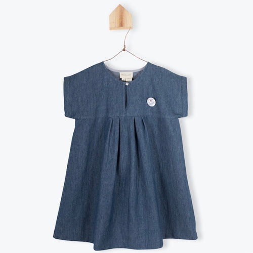 Denim one piece dress