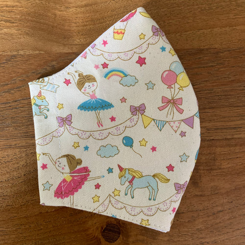 Handmade Reusable Face Mask - Princess and Ballerina