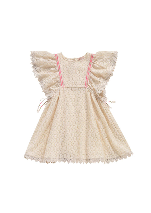 Dress Norah Cream Lace Flowers