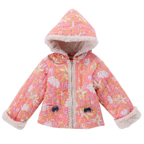 Jacket Palto Coral Flower