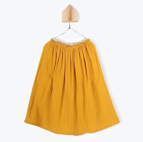Double Layer Voile Skirt Curry