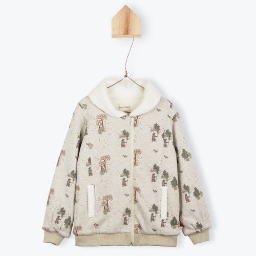 Jacket Forest Print Sherpa