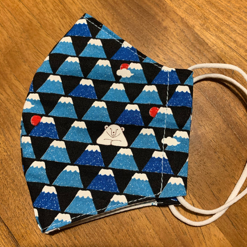 Handmade Cloth Mask - Blue Fuji
