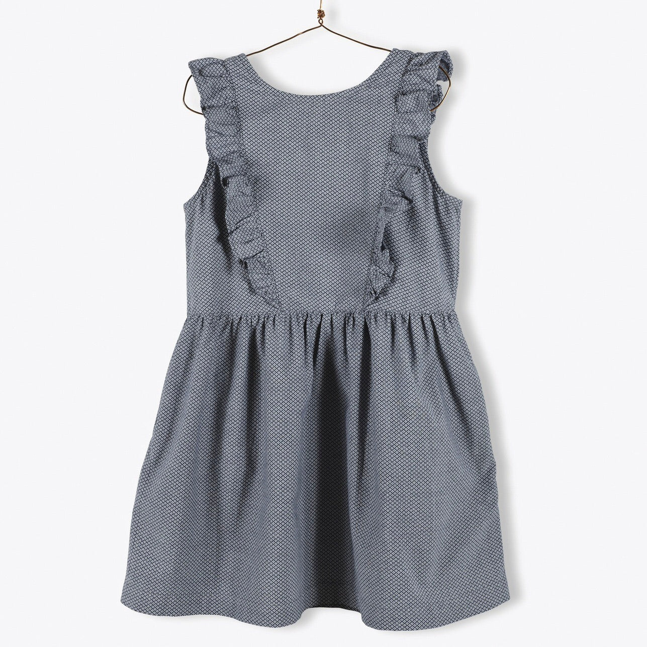Chambray Dress Ruffled Details