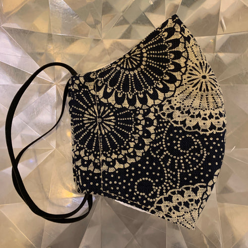 Handmade Cloth Mask - Black Lace