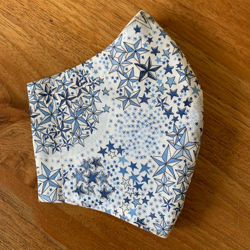Handmade Reusable Face Mask (Liberty) - Adelajda Blue