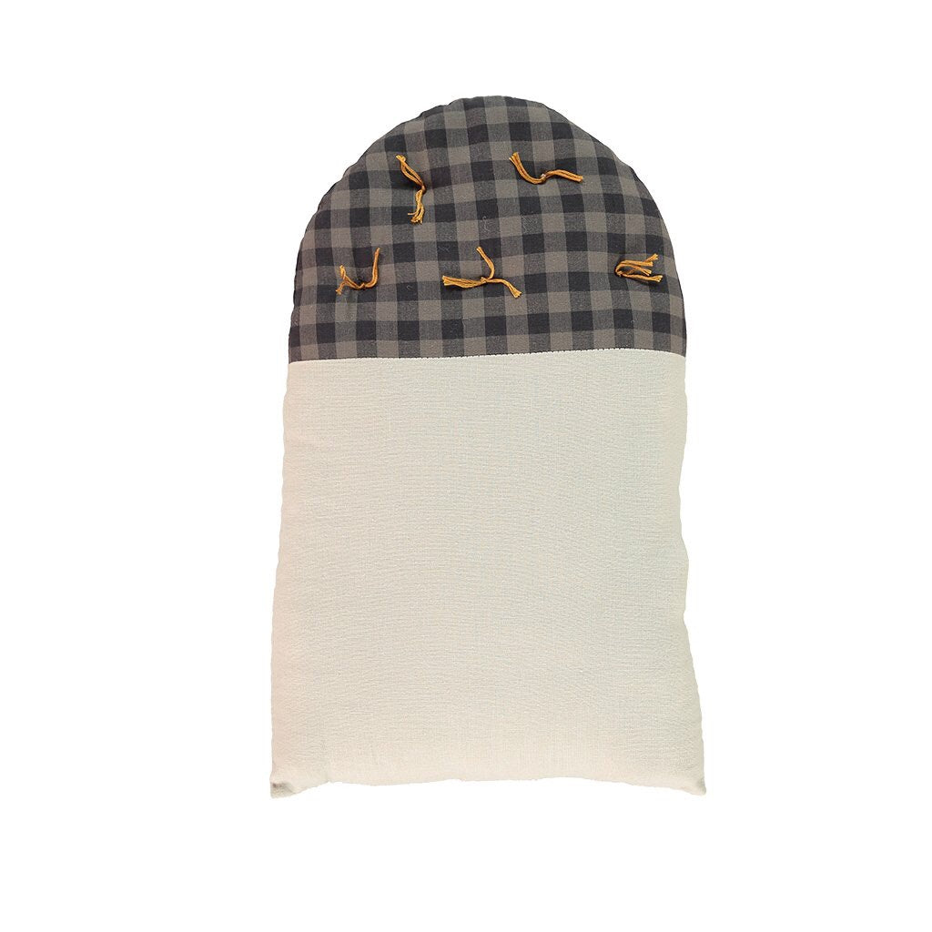 House Cushion Small - Gingham/Ash