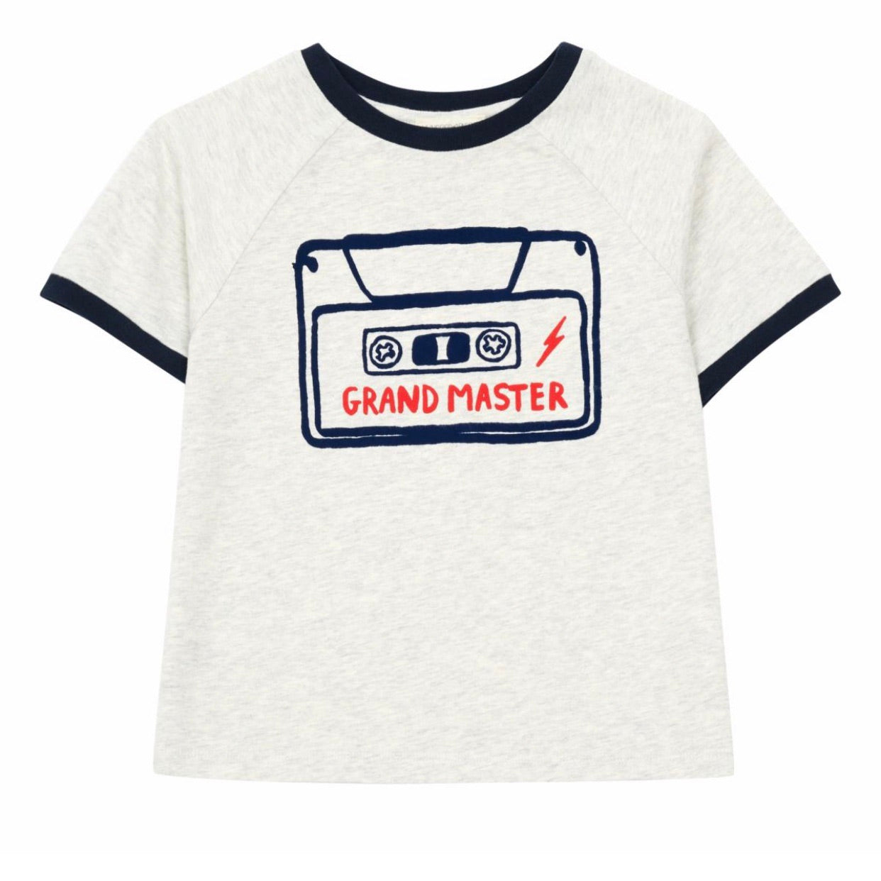 Cassette Tee Heather White