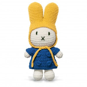 Miffy Handmade with her Blue Coat + Yellow Hat