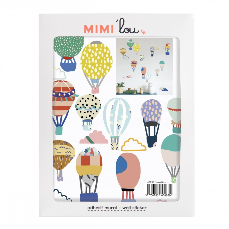 Wall Sticker - Hot Air Balloons