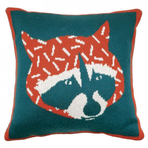 Knitted Cushion - Hector The Raccoon