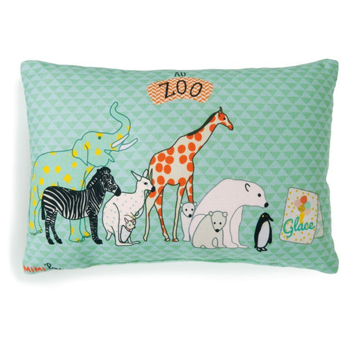 Mini Cushion - Zoo