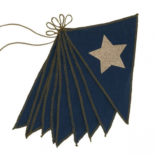 Flag Garland - Super Star Glittered