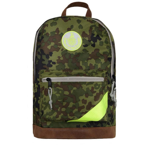 Retro Sports Backpack - Camouflage Fluo