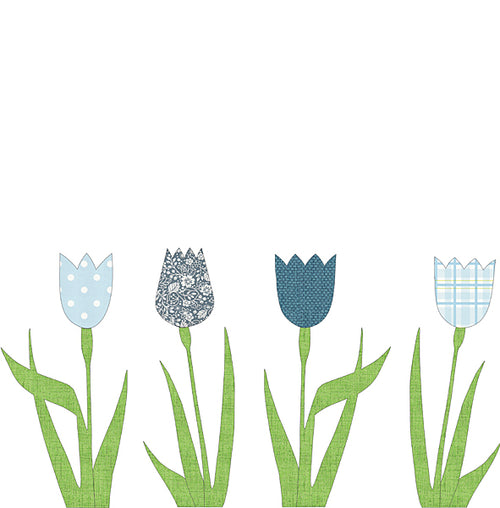 Wallpaper Tulip - Blue