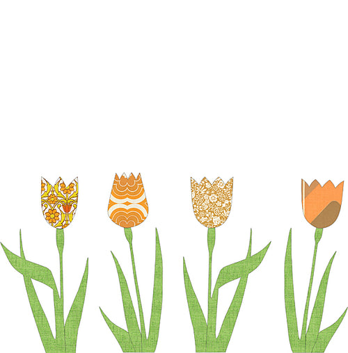 Wallpaper Tulip - Orange