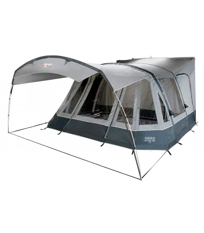 Vango Attar 440 Tall (245-290cm) Awning with Footprint and Carpet CLEARANCE